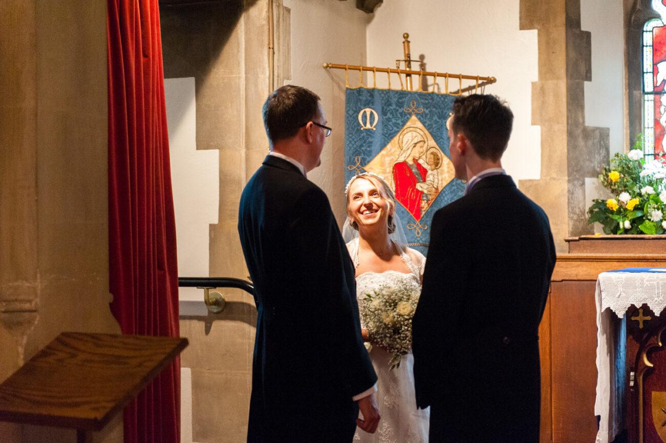 Wedding ceremony in Winchmore Hill Church, North London