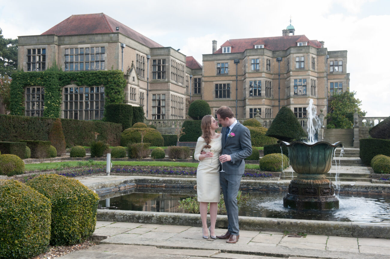 Professional wedding photographer at Fanhams, Ware