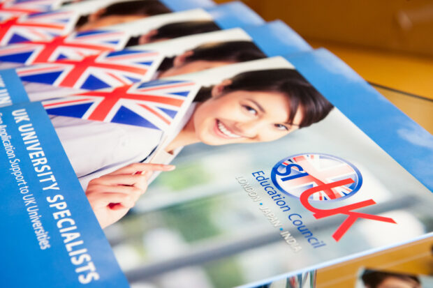 Study in UK brochure photography