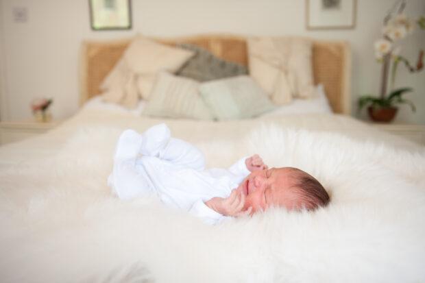 Sleepy baby portrait