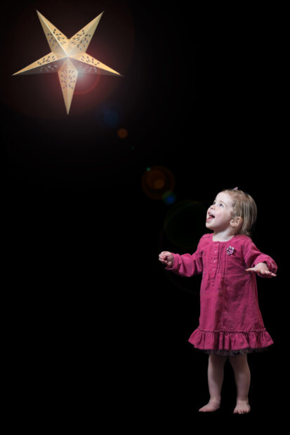 Little girl with star portrait